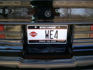 WE4 license plate