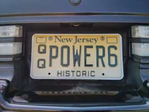 power 6 license plate