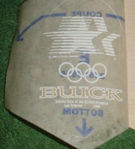 1984 Olympics window decal