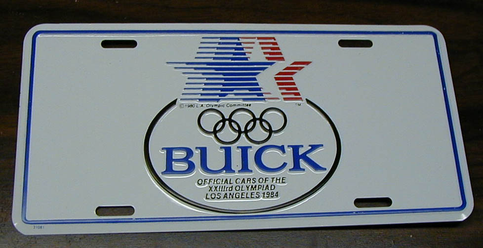 1984 olympic license plate