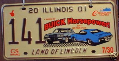 2001 license plate