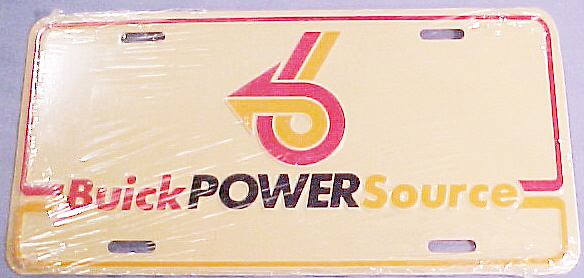 BUICK POWER SOURCE LICENSE PLATE