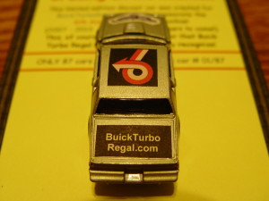 turbo buick die cast car
