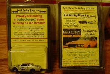 BuickTurboRegal.com Celebrates 6 years Online! Special Diecast Car Created!