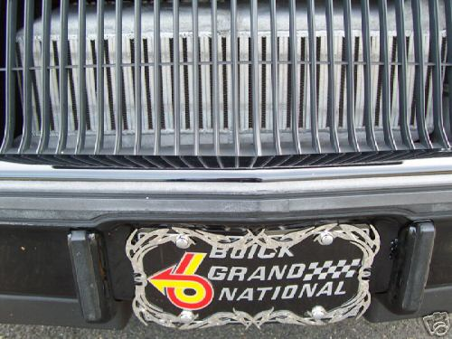 buick gn plate
