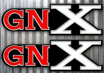 12 inch tall GNX decals