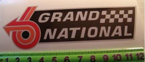 12inch buick grand national decal