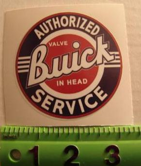 authorized buick service decal