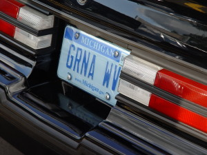 grand national license plate