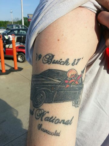 1987 buick grand national tattoo