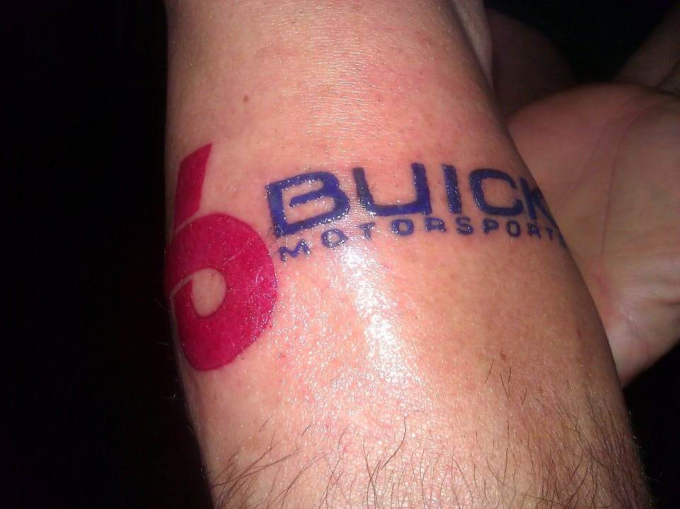 buick motorsports tattoo