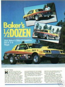 dick bakers dragcar magazine article
