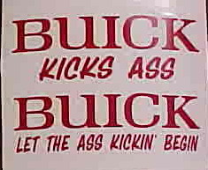funny buick stickers