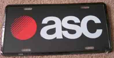 ASC license plate