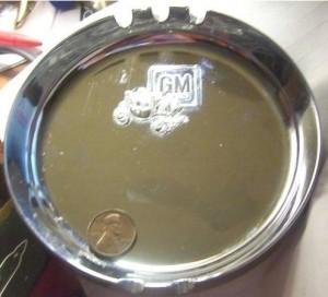 GM Fisher Body chrome ashtray