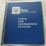 GM parts and accessories catalog