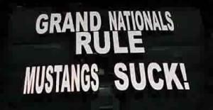 Buick Grand National window sticker