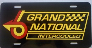 Intercooled License Plate Red Yellow