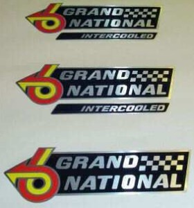 buick grand national fender decals