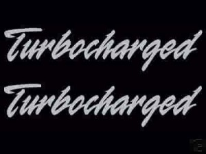 turbocharged decal