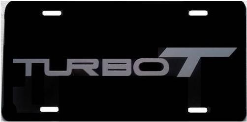 turbo t silver license plate