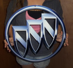 19inch metal buick tri shield sign