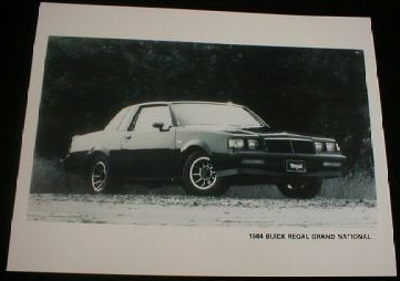 buick 1984 factory photo