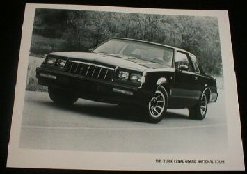 buick 1985 factory photo