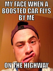 boosted car