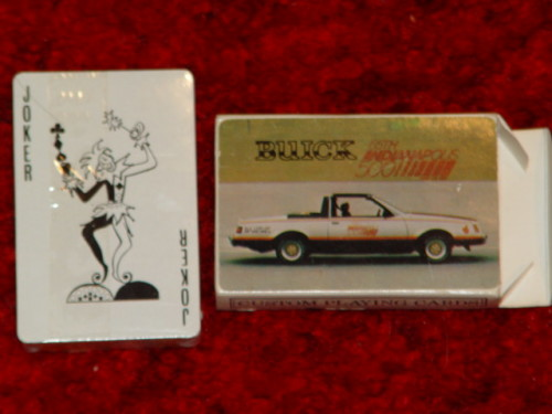 buick indy 500 playing cards