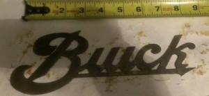 buick logo sign cutout 16th inch steel