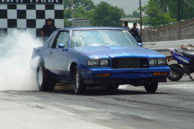 Having Fun at The Race Track Doing Burnouts