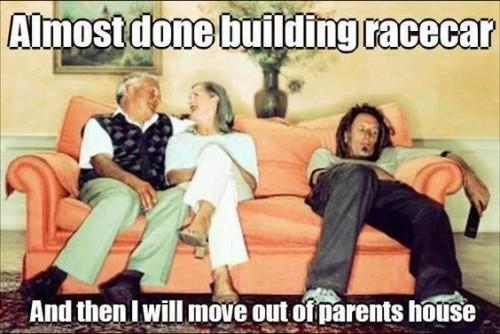 building a race car