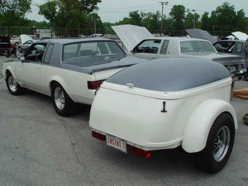 custom two tone buick trailer