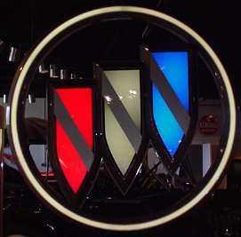 huge buick tri shield sign