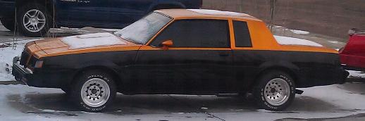 orange black buick regal