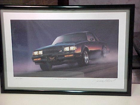 limited edition buick gnx print