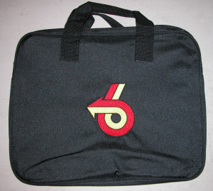 Turbo 6 Embroidered Laptop Bag