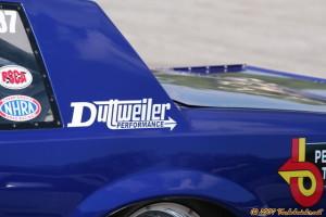 blue regal race car