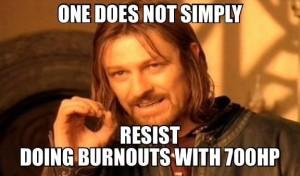 doing burnouts