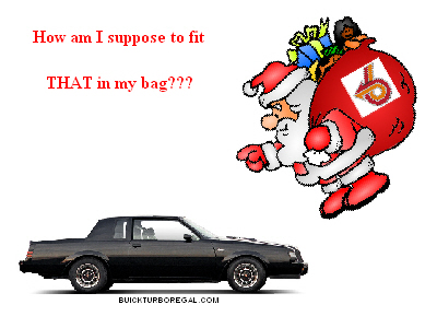 buick grand national santa bag