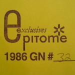 Epitome Exclusives numbered envelope
