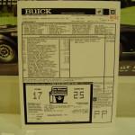 86 Buick GN window sticker