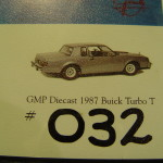 GMP Epitome Exclusives numbered Buick Lithograph