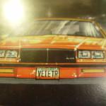 buick racing corvette lithograph