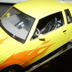 1987 buick grand national yellow and flames