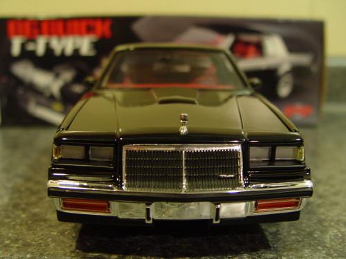 black buick t-type diecast car