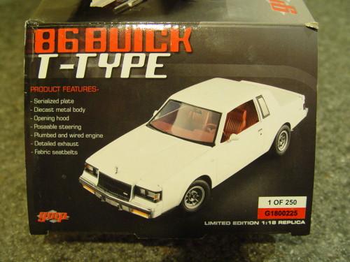 gmp g1800225 white 1986 buick t-type
