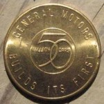 1950s BUICK ADVERTISING MEDAL 1