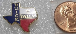 BUICK DALLAS TEXAS LAPEL PIN